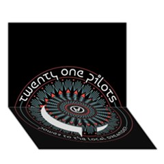 Twenty One Pilots Circle Bottom 3D Greeting Card (7x5)