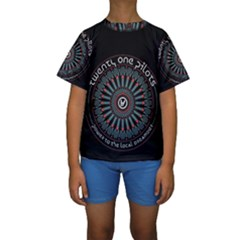 Twenty One Pilots Kids  Short Sleeve Swimwear