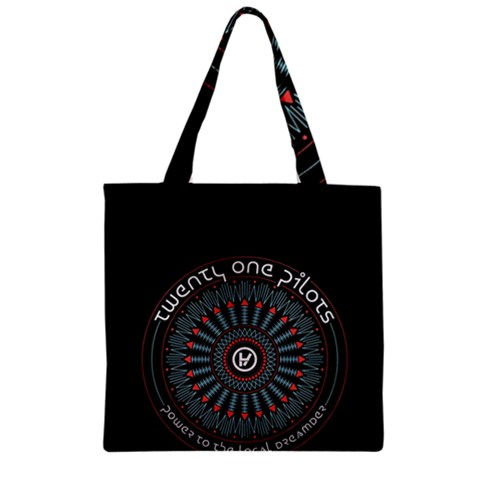 Twenty One Pilots Zipper Grocery Tote Bag