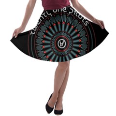 Twenty One Pilots A Line Skater Skirt
