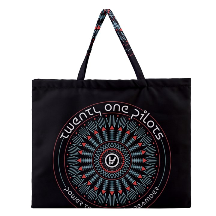 Twenty One Pilots Zipper Large Tote Bag