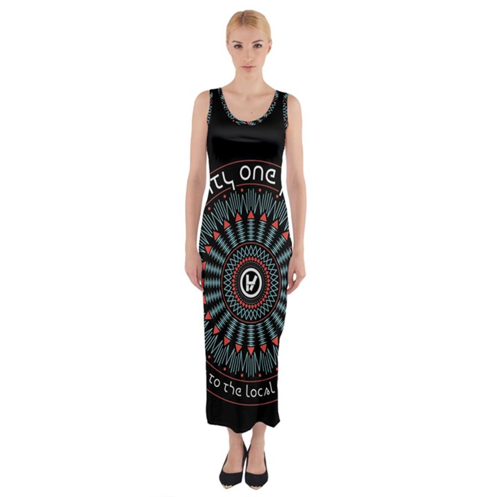 Twenty One Pilots Fitted Maxi Dress