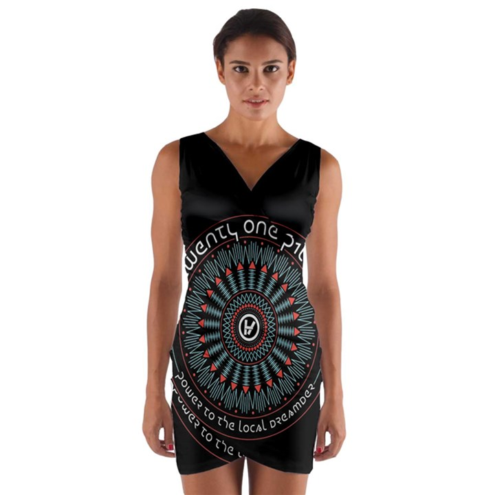 Twenty One Pilots Wrap Front Bodycon Dress