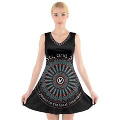 Twenty One Pilots V Neck Sleeveless Skater Dress