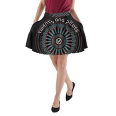 Twenty One Pilots A Line Pocket Skirt