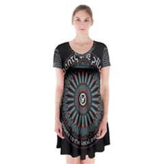 Twenty One Pilots Short Sleeve V-neck Flare Dress