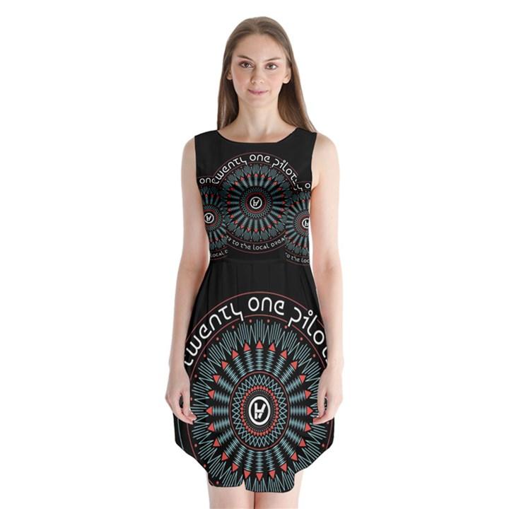 Twenty One Pilots Sleeveless Chiffon Dress