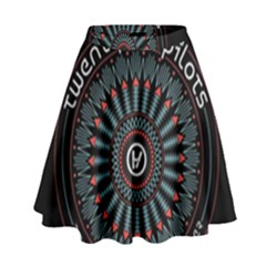 Twenty One Pilots High Waist Skirt