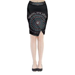 Twenty One Pilots Midi Wrap Pencil Skirt