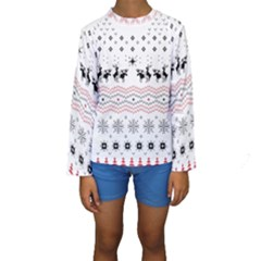 Ugly Christmas Humping Kids  Long Sleeve Swimwear