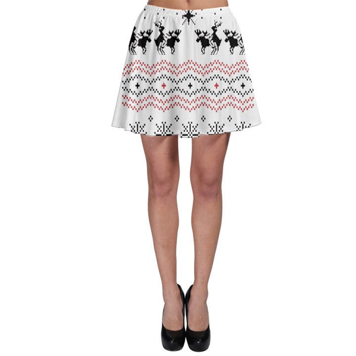 Ugly Christmas Humping Skater Skirt