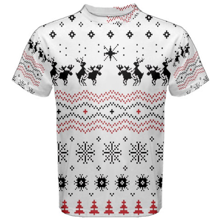 Ugly Christmas Humping Men s Cotton Tee