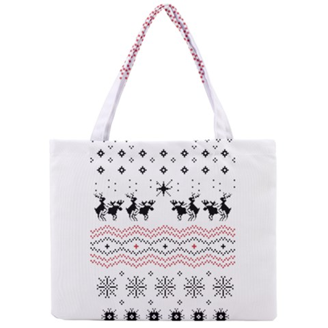 Ugly Christmas Humping Mini Tote Bag