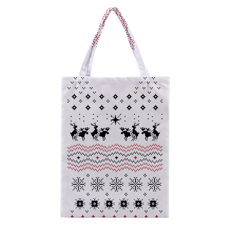 Ugly Christmas Humping Classic Tote Bag