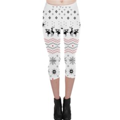 Ugly Christmas Humping Capri Leggings
