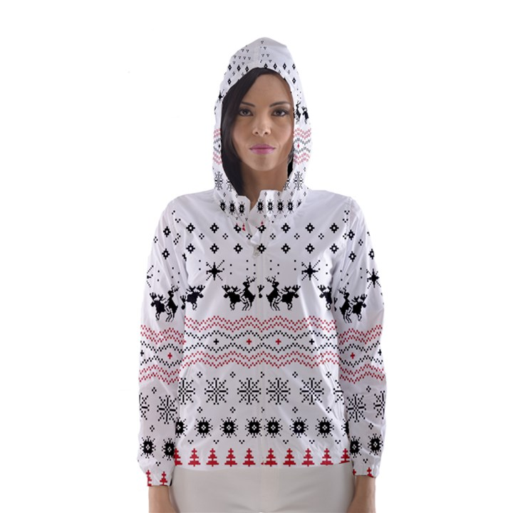 Ugly Christmas Humping Hooded Wind Breaker (Women)