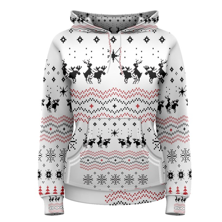 Ugly Christmas Humping Women s Pullover Hoodie