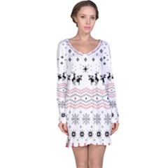 Ugly Christmas Humping Long Sleeve Nightdress