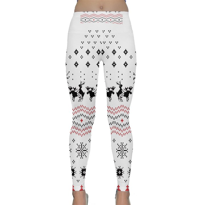 Ugly Christmas Humping Yoga Leggings