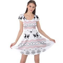 Ugly Christmas Humping Cap Sleeve Dresses