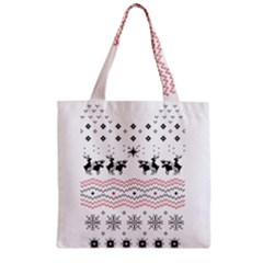 Ugly Christmas Humping Zipper Grocery Tote Bag