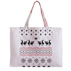 Ugly Christmas Humping Zipper Mini Tote Bag