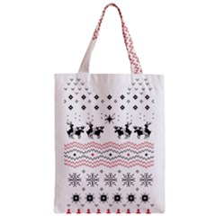 Ugly Christmas Humping Zipper Classic Tote Bag