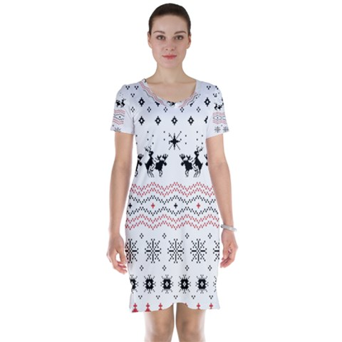 Ugly Christmas Humping Short Sleeve Nightdress