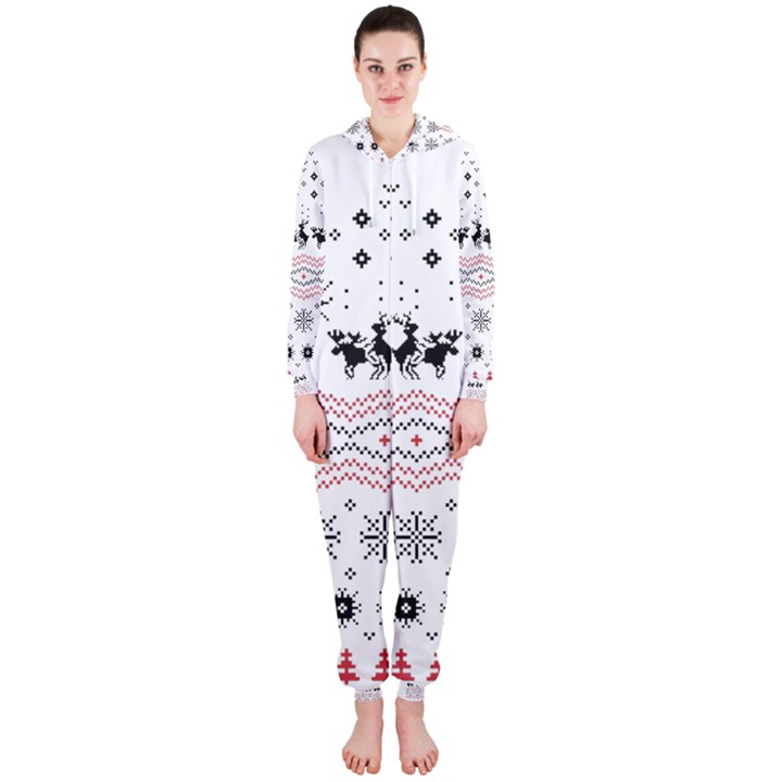 Ugly Christmas Humping Hooded Jumpsuit (Ladies)