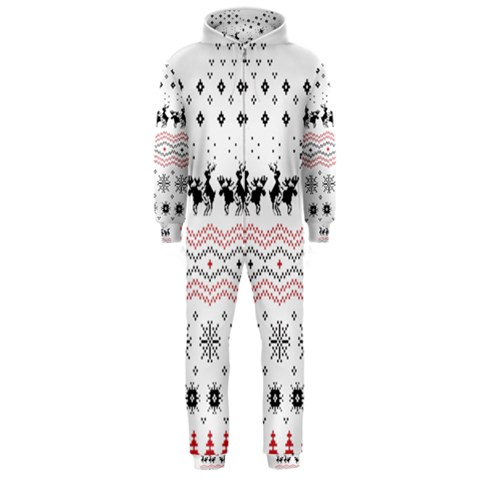 Ugly Christmas Humping Hooded Jumpsuit (Men)