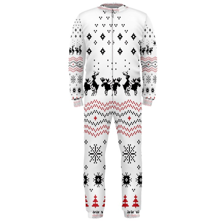 Ugly Christmas Humping OnePiece Jumpsuit (Men)