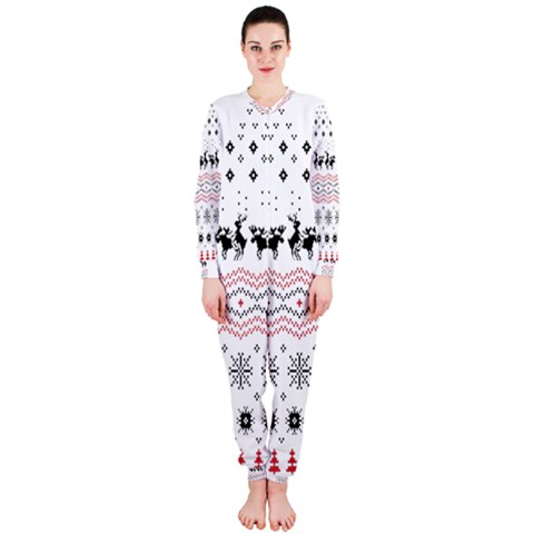 Ugly Christmas Humping OnePiece Jumpsuit (Ladies)