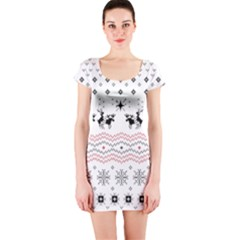 Ugly Christmas Humping Short Sleeve Bodycon Dress