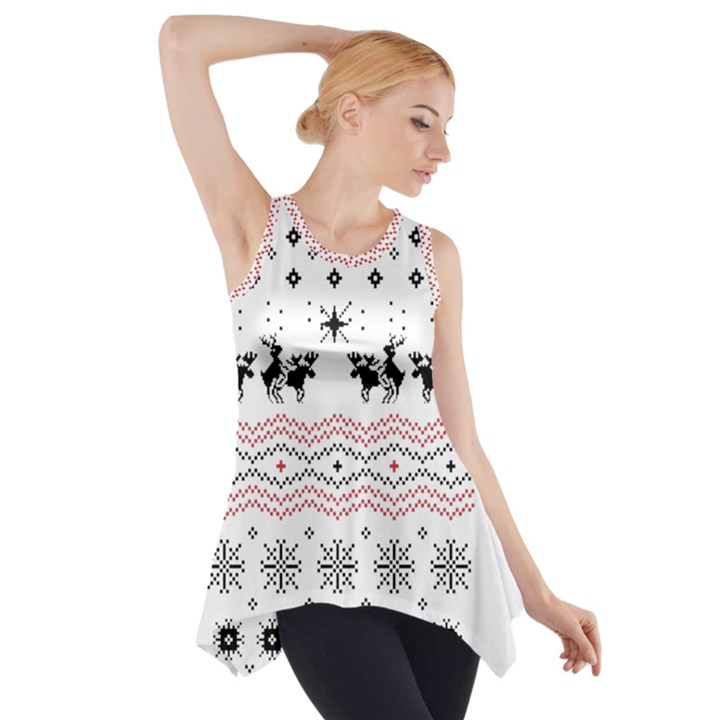 Ugly Christmas Humping Side Drop Tank Tunic