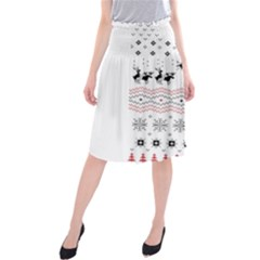 Ugly Christmas Humping Midi Beach Skirt
