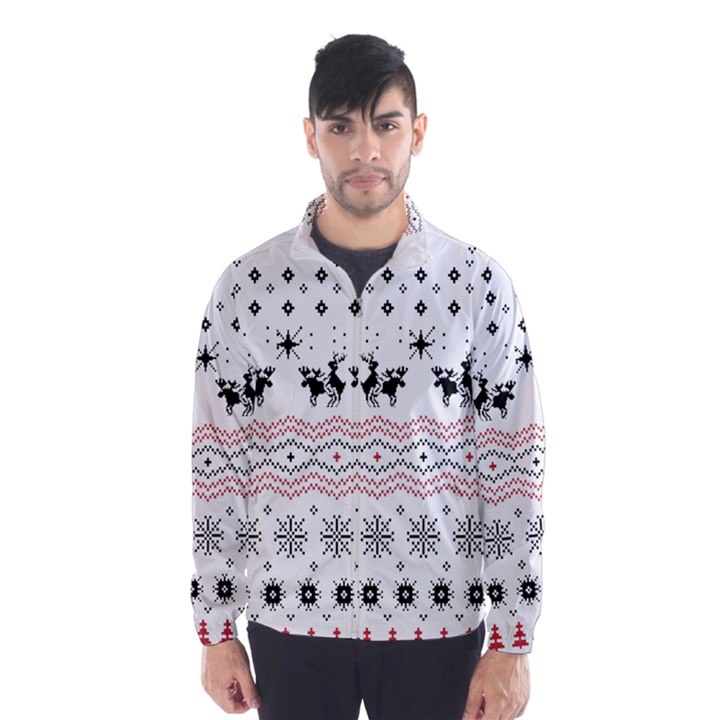 Ugly Christmas Humping Wind Breaker (Men)