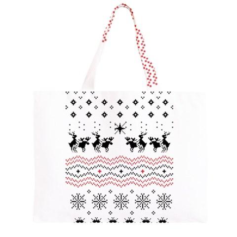 Ugly Christmas Humping Large Tote Bag