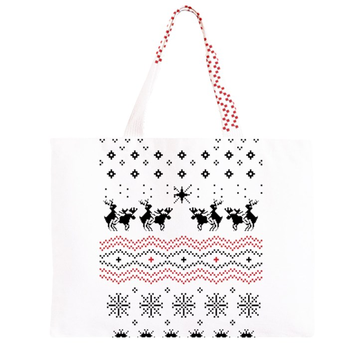 Ugly Christmas Humping Large Tote Bag