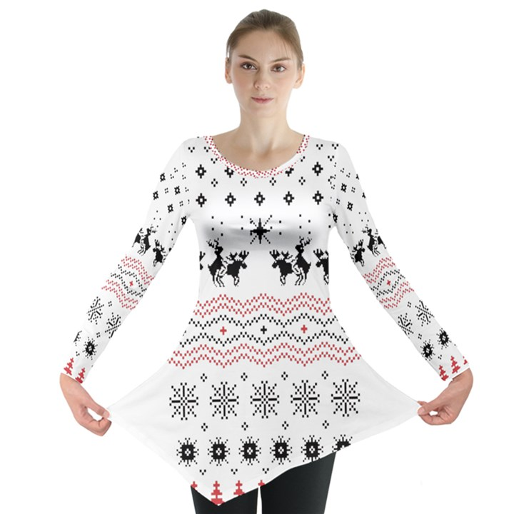 Ugly Christmas Humping Long Sleeve Tunic