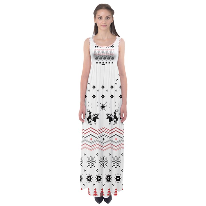 Ugly Christmas Humping Empire Waist Maxi Dress