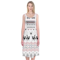Ugly Christmas Humping Midi Sleeveless Dress