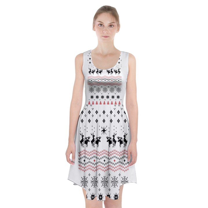 Ugly Christmas Humping Racerback Midi Dress