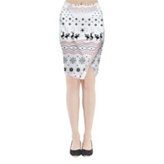 Ugly Christmas Humping Midi Wrap Pencil Skirt