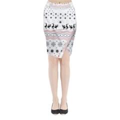 Ugly Christmas Humping Midi Wrap Pencil Skirt