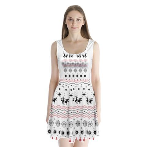 Ugly Christmas Humping Split Back Mini Dress