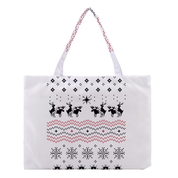 Ugly Christmas Humping Medium Tote Bag