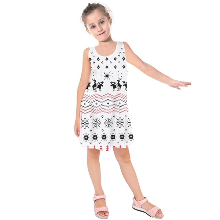Ugly Christmas Humping Kids  Sleeveless Dress