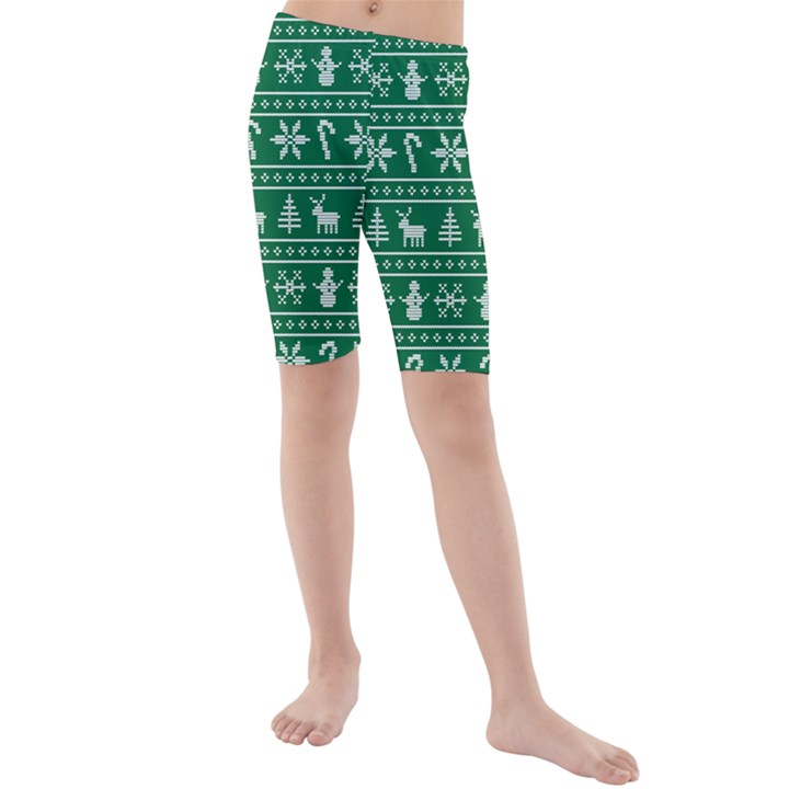 Ugly Christmas Kids  Mid Length Swim Shorts