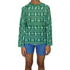 Ugly Christmas Kids  Long Sleeve Swimwear