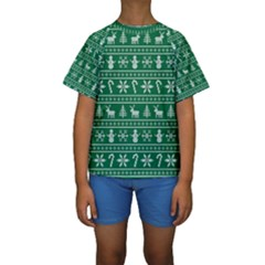Ugly Christmas Kids  Short Sleeve Swimwear